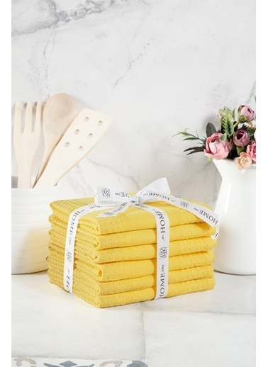 Baby O  %100 Pamuk 6'Lı 40X70 Mutfak-El Havlusu Orkide Sarı Renkli